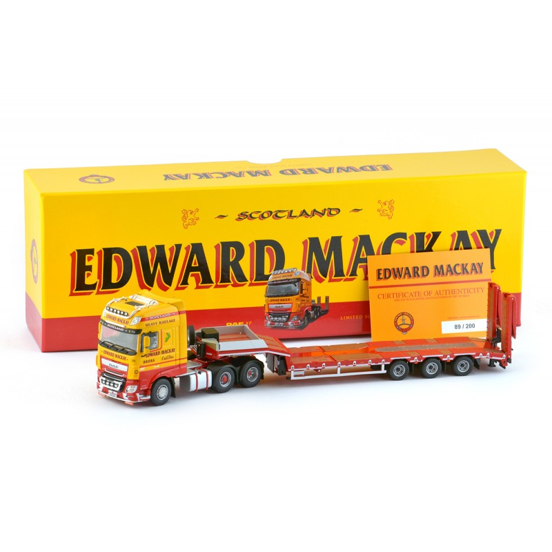 Edward MacKay DAF XF Euro 6 with 3-axle Semi Lowloader Trailer **B-Choice**