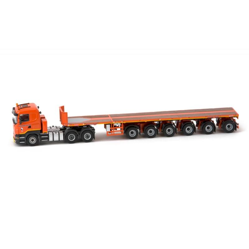 Michielsens Scania R5 Lowline 6x4 with Nooteboom 6 axle Ballasttrailer