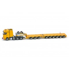 Yellow series Mercedes Benz Arocs BigSpace 8x4 Nooteboom MCO-PX 3+6 axle