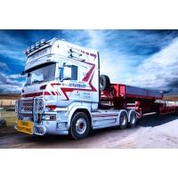 Straumann Scania R-Streamline Topline 6x4 with Nooteboom MCO-PX 6 axle
