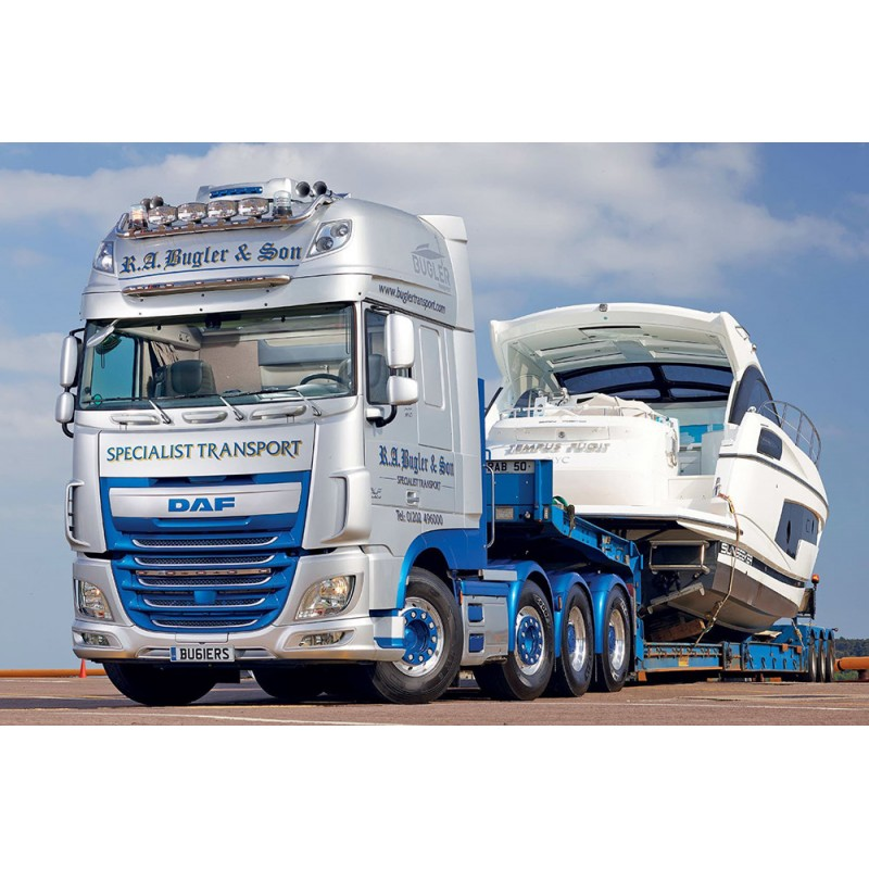 Bugler Transport DAF XF SSC Euro6 8X4 With Goldhofer 3 Axle Low Loader