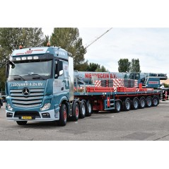 J.brouwer & Zn Mercedes Benz Actros Bigspace 8x4 with Nooteboom 6 axle ballasttrailer