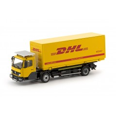 KAMAG Wiesel Yellow with DHL Container