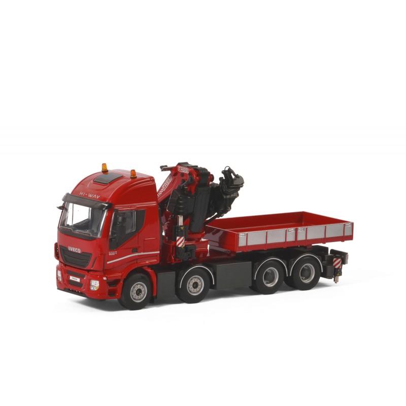 Iveco Stralis Highway 8X4 Fassi 1100 + Ballast Box