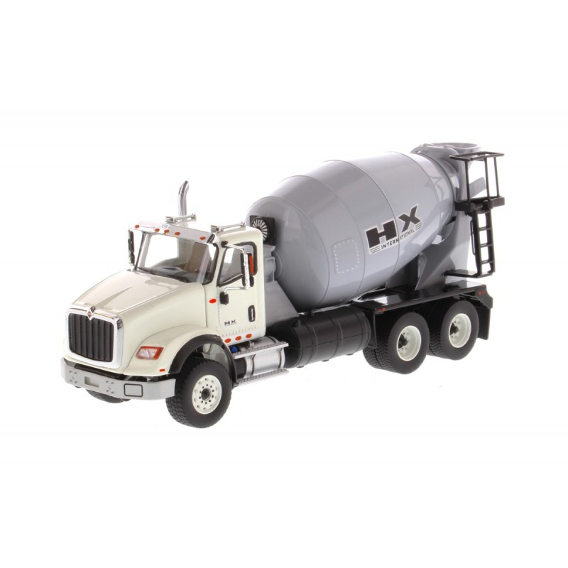 International Hx615 Concrete Mixer White Cabin Light Grey Mixer Drum