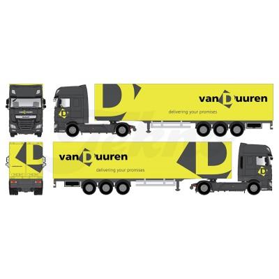 Van Duuren Daf Xf Super Space Cab With Box Trailer