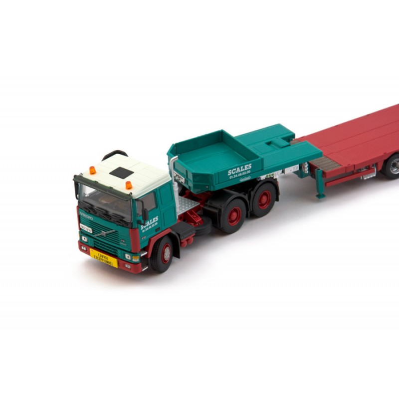 Scales 8-Axle Semi Lowloader With Volvo F12 6X4