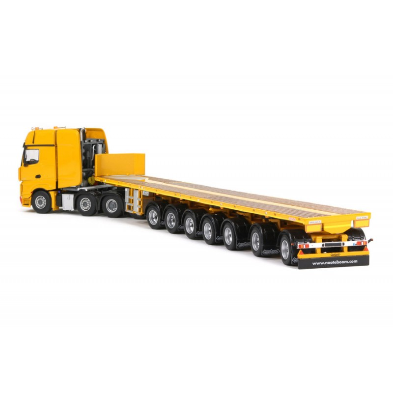 Mercedes Benz Actros Yellow Series 7 Axle Ballasttrailer Boom Saddles