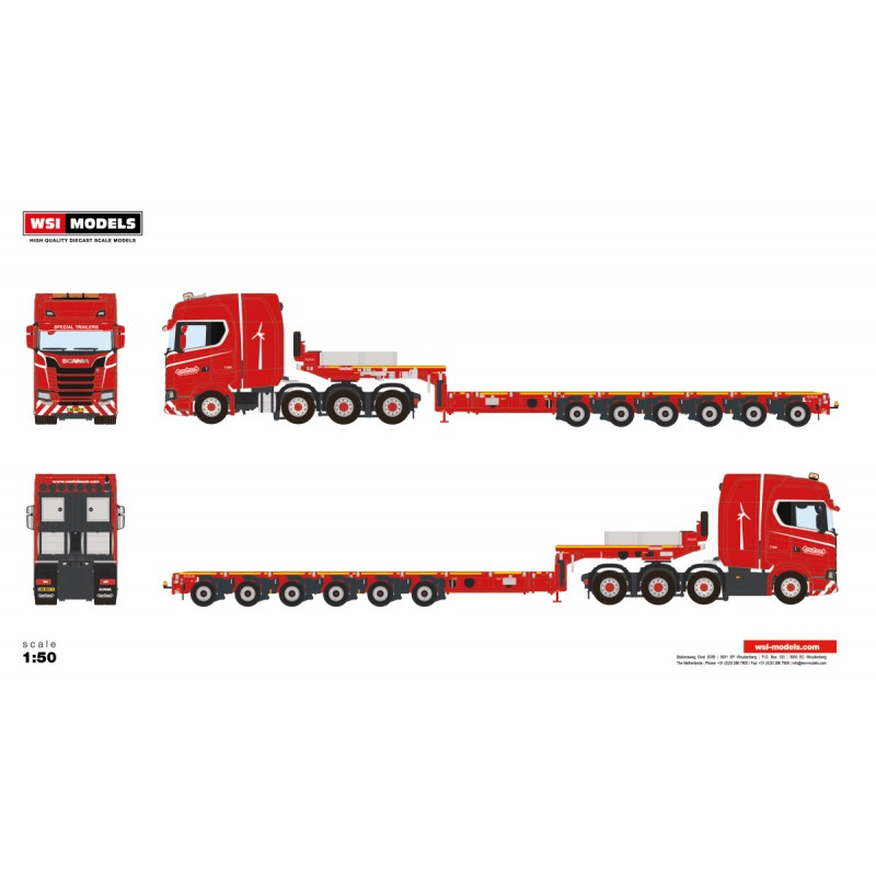 Nooteboom Redline Series Mco-Px 6-Axle With Scania New Generation 8X4
