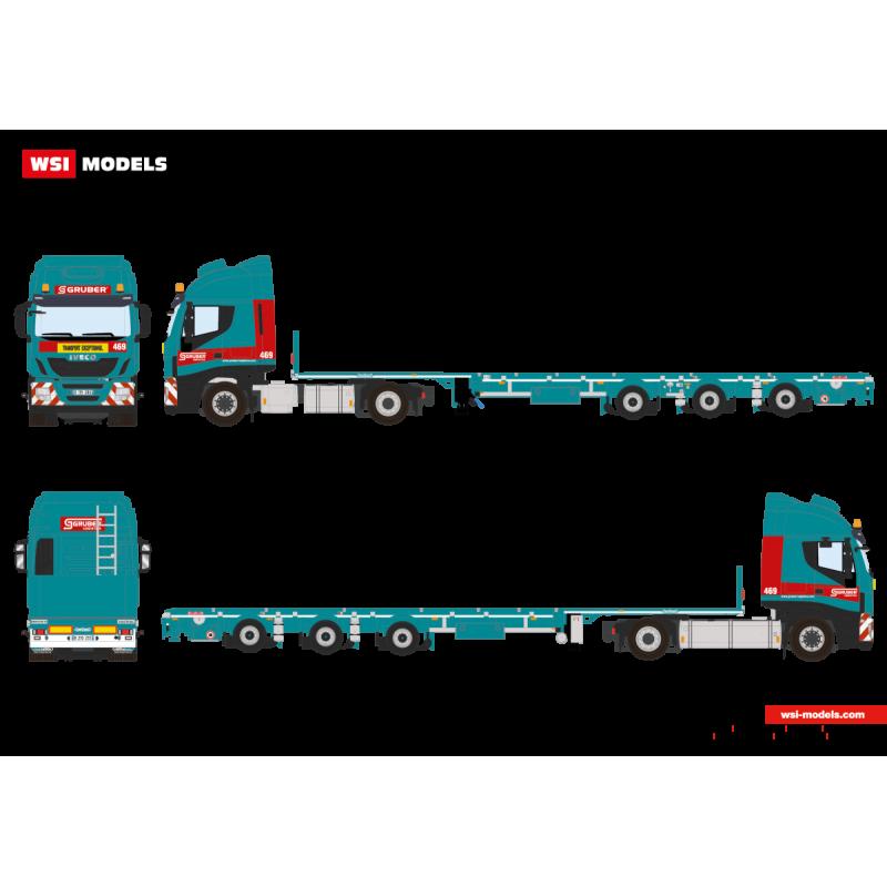 Gruber - Megatrailer 3-Axle + Iveco Stralis 4X2