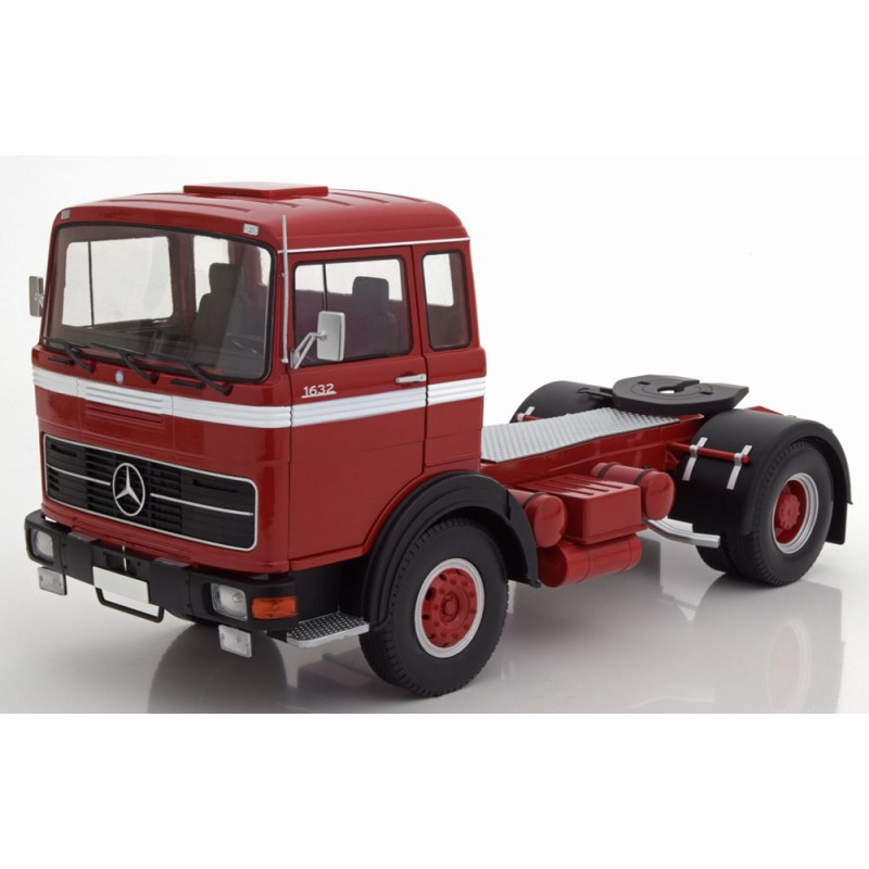 Mercedes Lps 1632 1969 Red Black White 1:18 Scale