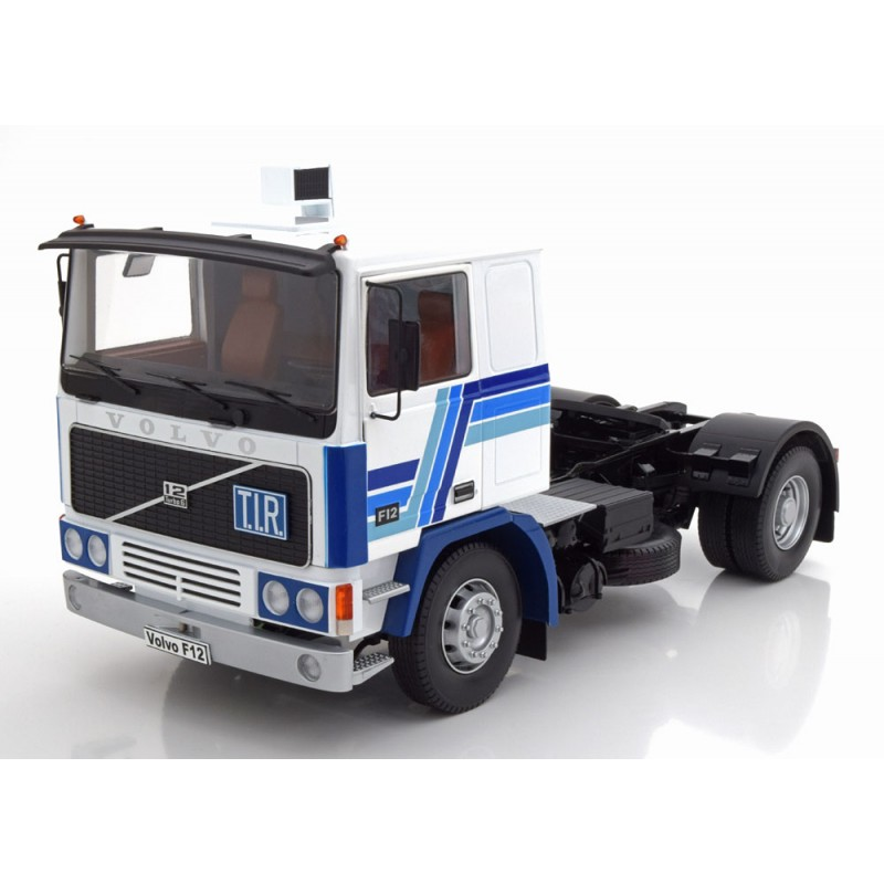 Volvo F12 1977, White/Blue 1:18 Scale