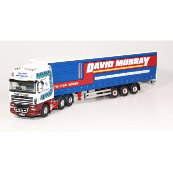 David Murray DAF XF105 Superspace Cab 6 x 2 with 3-axle Curtainside Trailer