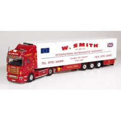 W Smith Scania R-Series Topline with 3-axle Fridge Trailer