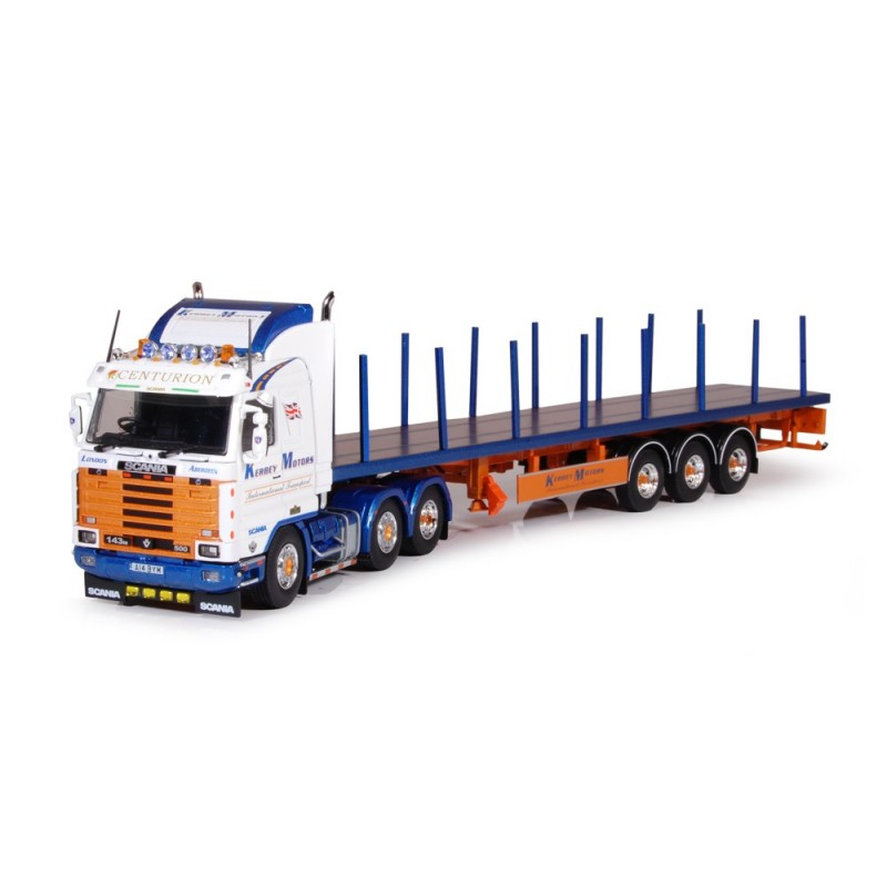 Kerbey Motors Scania 3 Series Streamline With Fletbed Trailer