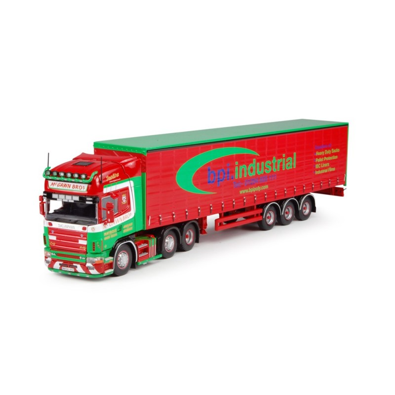McGawn Scania 4-Series Topline 6 x 2 with 3-axle Curtainside Trailer