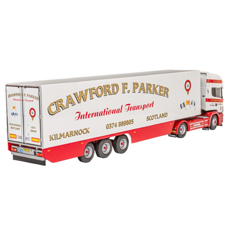Crawford F Parker Scania 4-Series Topline 4 x 2 with 3-axle Fridge Trailer