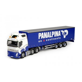 Grampian Panalpina Volvo FH04 Globetrotter XL with 3-axle Curtainside Trailer