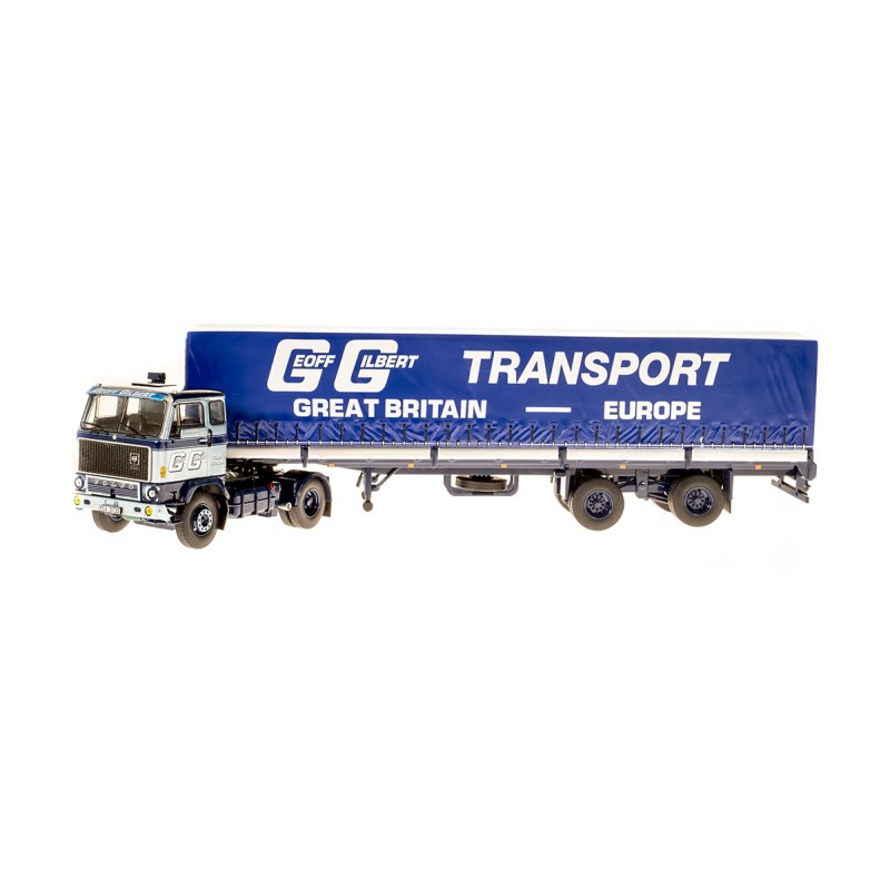Geoff Gilbert Volvo F89 with 2-axle Tilt Trailer