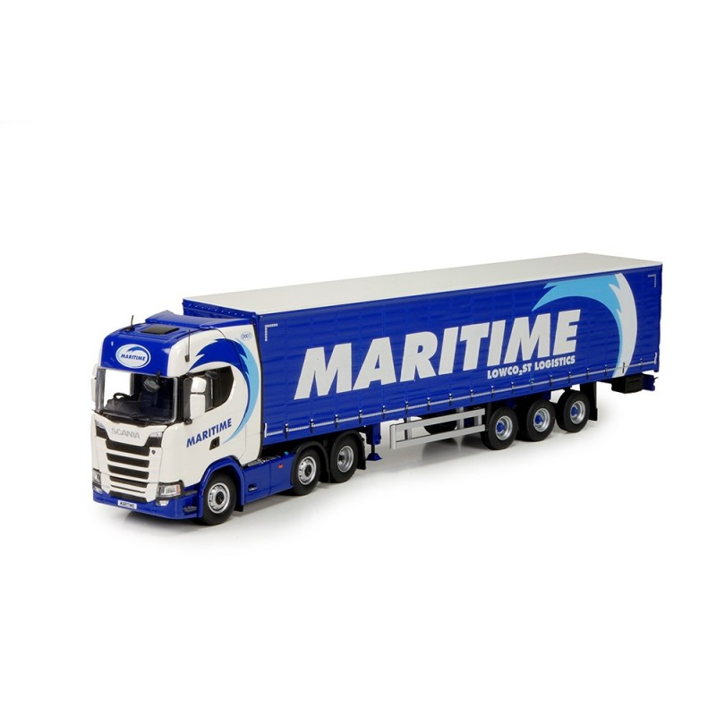 Maritime Scania R-Series Nex Gen With Curtainside Trailer