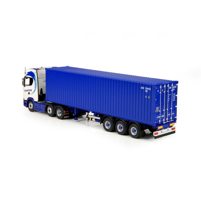 Maritime Scania R-Series Next Gen With Container Load
