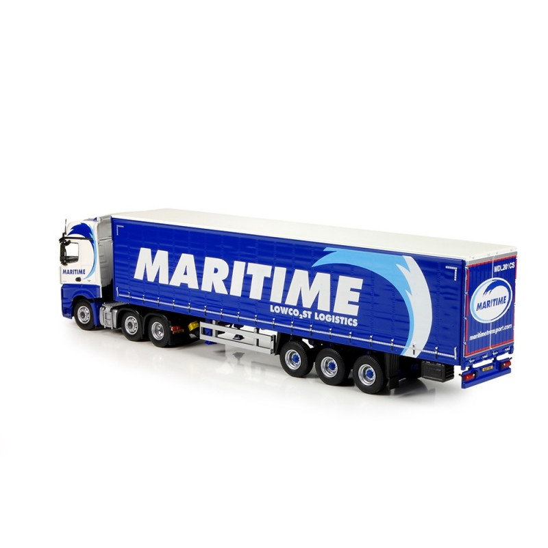 Maritime Mercedes Benz Actros Bigspace With Curtainside Trailer
