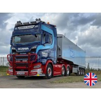 Rowell'S Transport Scania Next Gen S-Series Highline With Tipping Trailer
