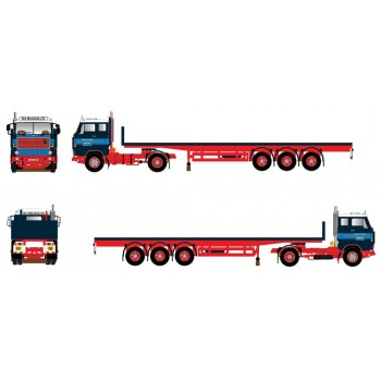 WH Malcolm Volvo F88 with Classic Flatbed Trailer