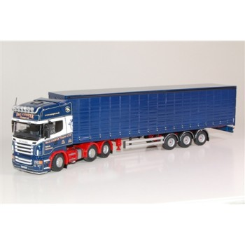 R&C Cooper Scania R-Series Topline with 3-axle Curtainside Trailer