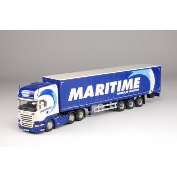 Maritime Scania R-Series Topline 6 x 2 with Curtainside Trailer