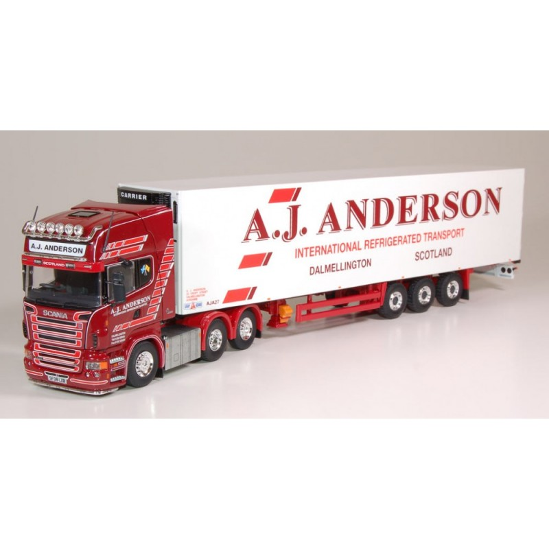 AJ Anderson Scania R-Series Topline Fridge Trailer