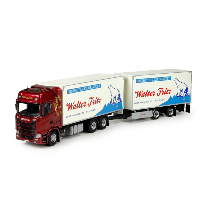 Walter Fritz Scania S730 Rigid Truck With Trailer
