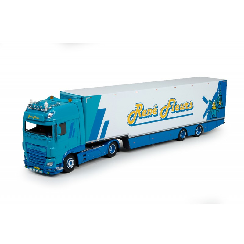 Rene Fleurs DAF XF Euro 6 With Swan Neck Reefer Trailer