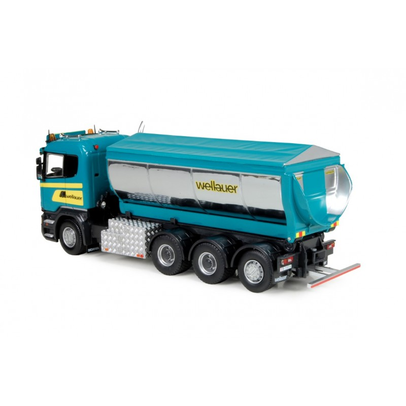 Wellauer  Scania R Hooks Wagon And Asphalt Trailer
