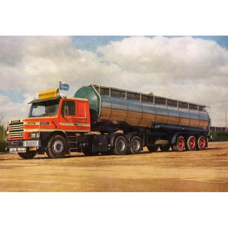 Martin Hellestrup Scania 2-Series Torpedo With Tanker Trailer