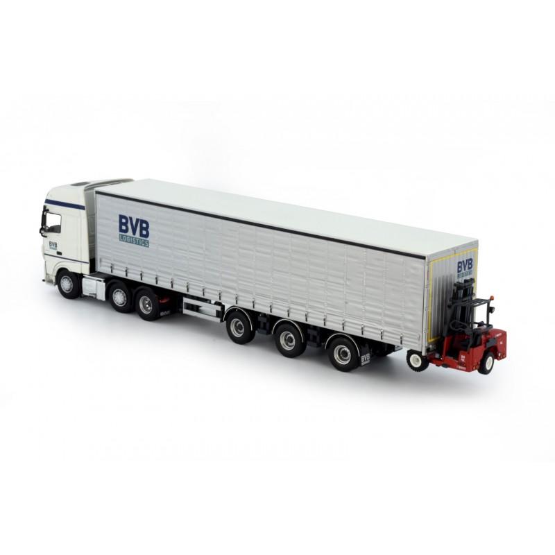 Bvb Logistics Daf Ssc Curtainside Trailer With Forklift