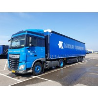 Meeus Transport DAF XF Euro 6 SSC With 3 Axle Curtainside Trailer