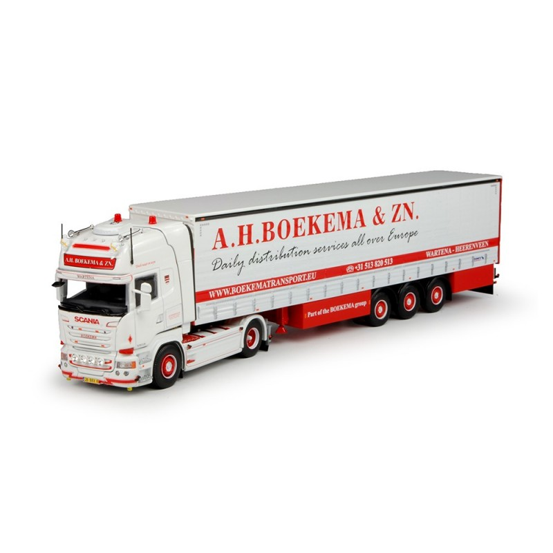 Boekema Scania R-Series Topline with Curtainside Trailer