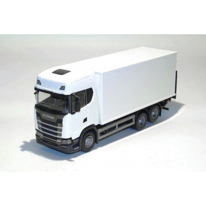 Scania Cs20H 6X4 Rigid Box - White 1:25 Scale
