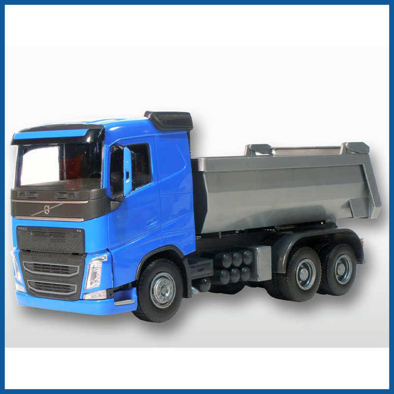 Volvo FH04 Blue Cab 6x4 Tipping Trailer 1:25 Scale