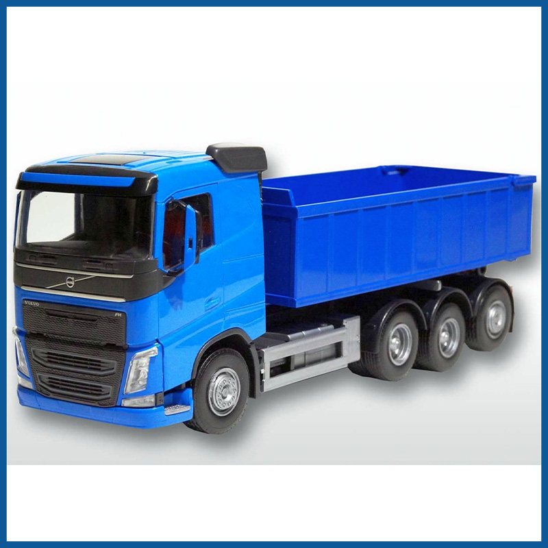 Volvo FH04 8x4 Blue Cab Blue Roll Off Container 1:25 Scale