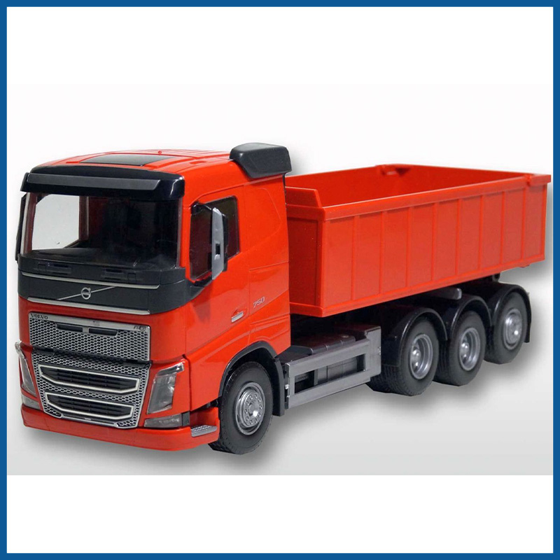 Volvo FH04  8x4 Red Cab Red Roll Off Container 1:25 Scale