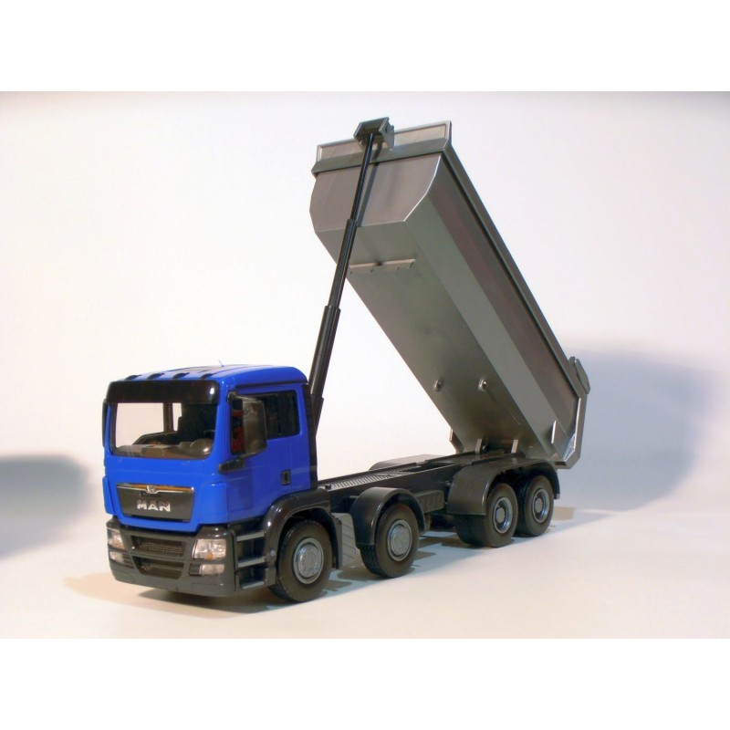 MAN TGS Blue Cab 4 Axle Tipper 1:25 Scale