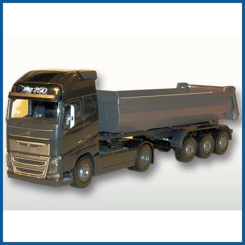 Volvo FH04 GL 4x2 Black Cab With 3 Axle Tipper Trailer 1:25 Scal