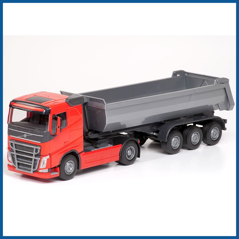 Volvo FH04 4x2 Red Cab With 3 Axle Tipper Trailer 1:25 Scale