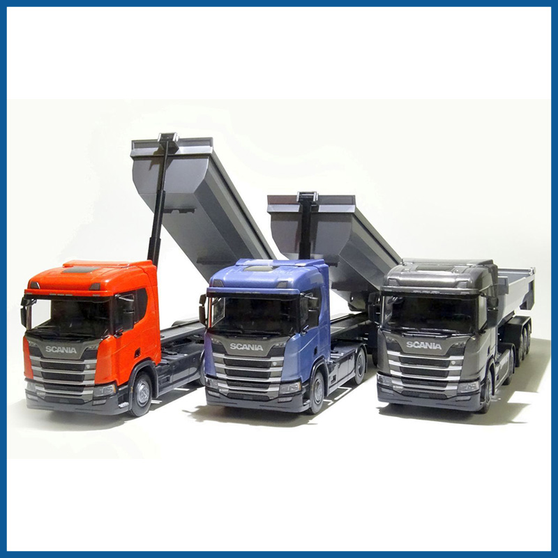 3 Scania Set CR Next Gen HL 4x2 3 Axle Tipper 1:25 Scale