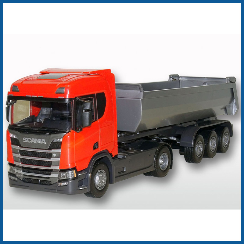Scania R500 Red Cab Next Gen HL 4x2 3 Axle Tipper 1:25 Scale