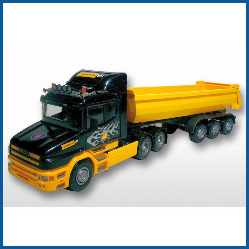 Scania T Cab 6x4 2 Axle Yellow Tipping Trailer 1:25 Scale