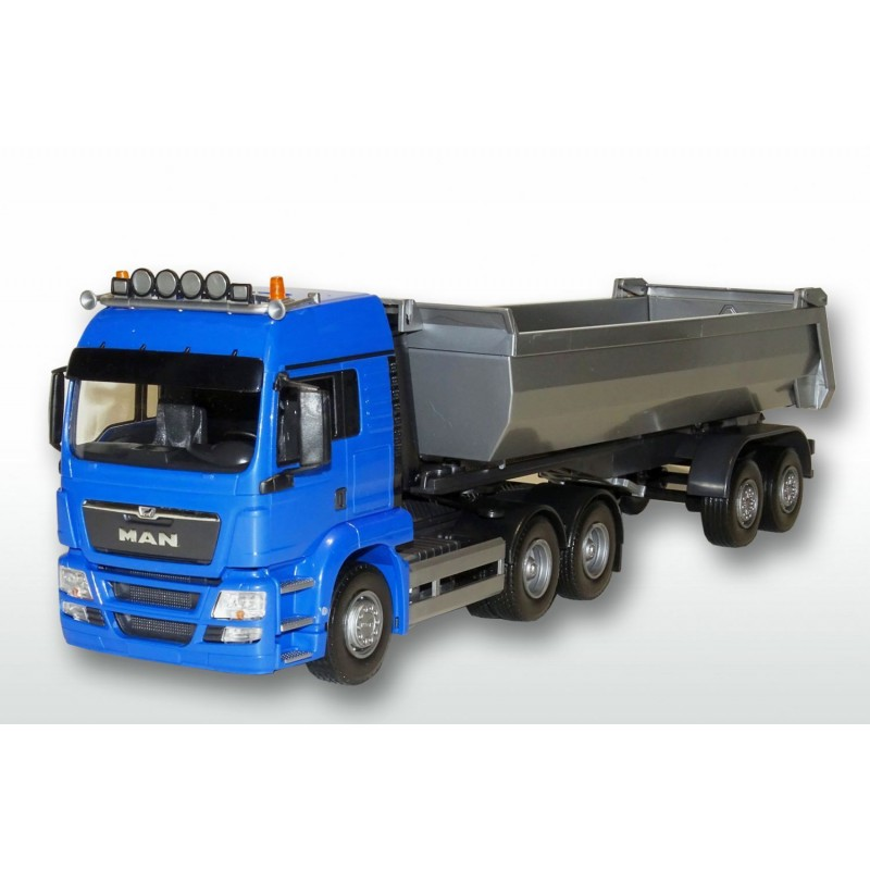 MAN TGS LX 3x2 Blue Cab 2 Axle Tipping Trailer