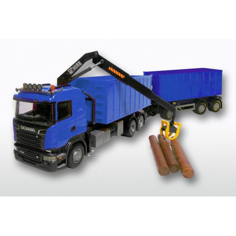 Scania Streamline 6x2 Blue Cab HIIAB Blue Roll-off Container